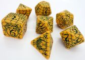 Pathfinder Serpent & Skull Yellow Dice Set